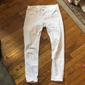 White 7/8s jeans from Lucky Brand